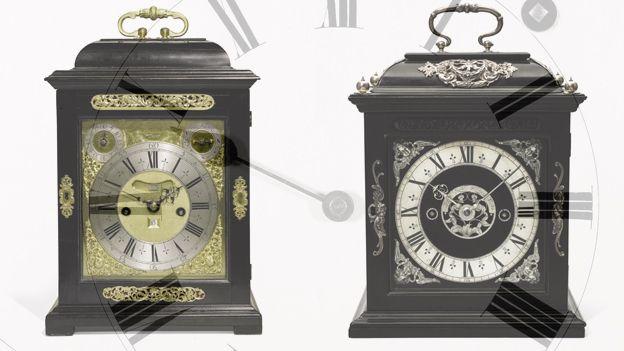Thomas Tompion Clock and Joseph Knibb clocks (Courtesy of Sotheby's)