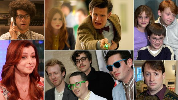 Clockwise, from left: Richard Ayoade (Image: Talkback), Matt Smith, the stars of the Harry Potter films, David Mitchell, members of Hot Chip and Alyson Hannigan