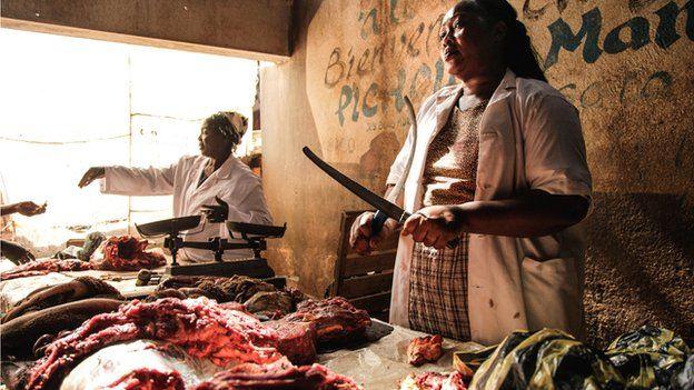 Butchers in Bangui