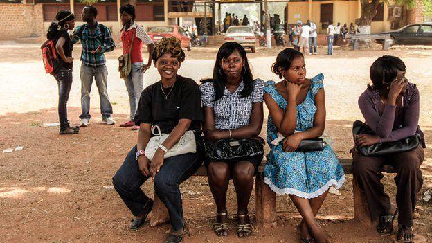 University students in Bangui