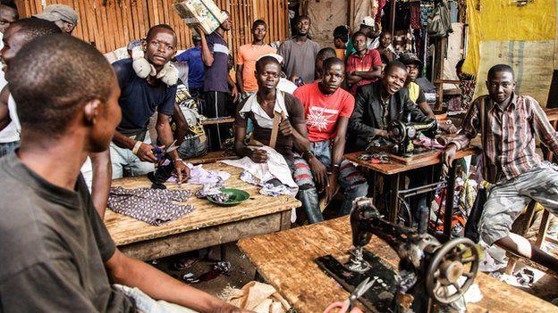 Tailors at PK5 market in Bangui