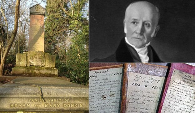 Donkin's tomb, Donkin and his diaries