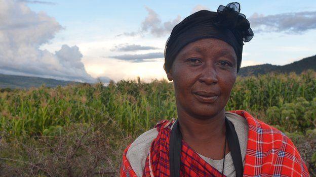Naishirita Tenemeri, a Maasai woman who attended the protests