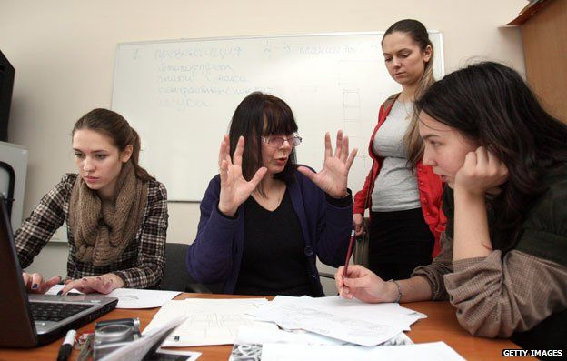 A class at the European Humanities University