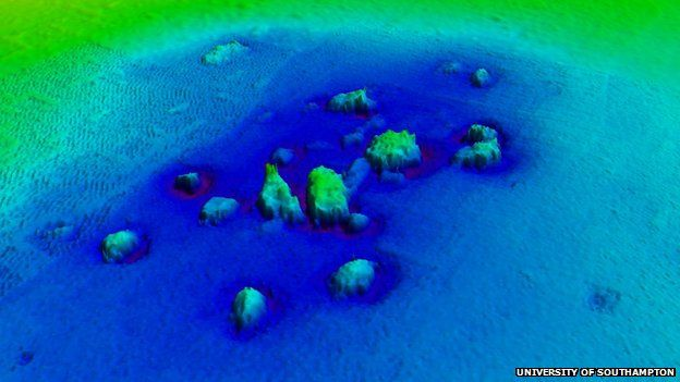 Acoustic image of Dunwich's underwater remains