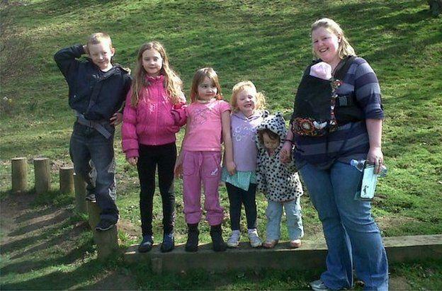 Sarah Dawes and her children