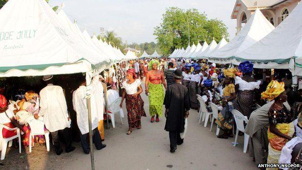 An Igbo funeral in Nigeria