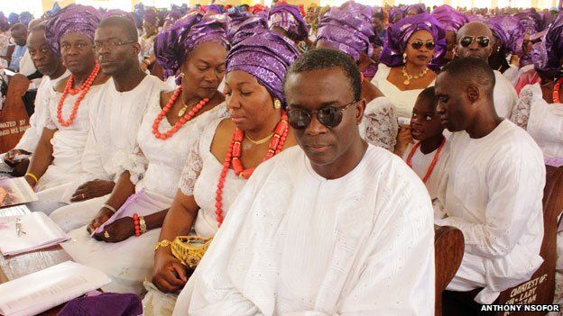 Church service at an Igbo funeral