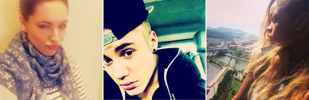 Celebrity selfies: Kelly Brook, Justin Bieber and Rihanna
