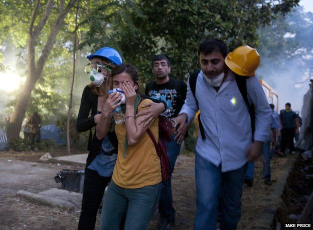 The clearing of Gezi Park