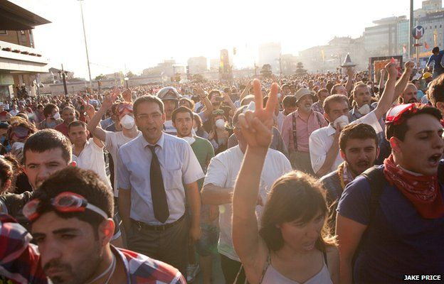 Protesters in Istanbul