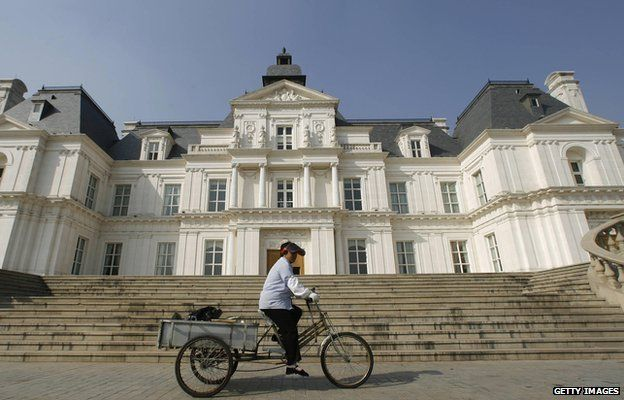 A replica of chateau Maisons-Laffitte on the outskirts of Beijing