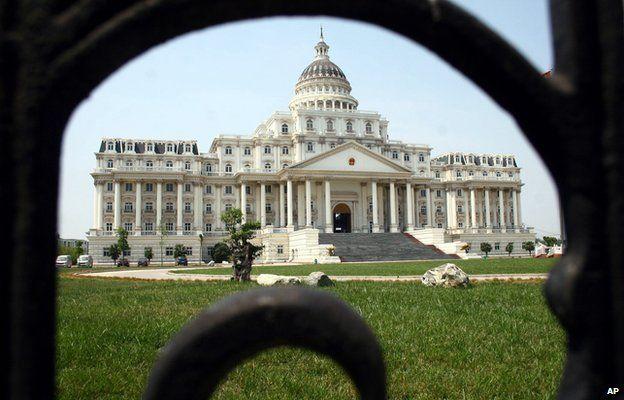 A replica Capitol Hill/White House in China