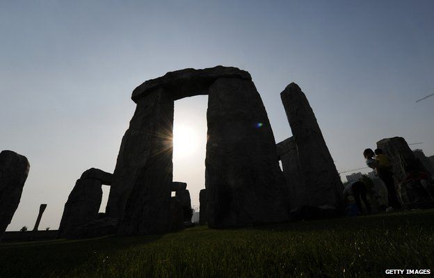 A replica Stonehenge in China
