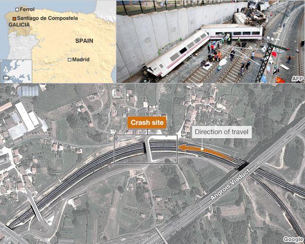 Trains crash map