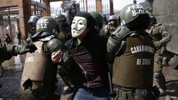 Demonstration in Santiago