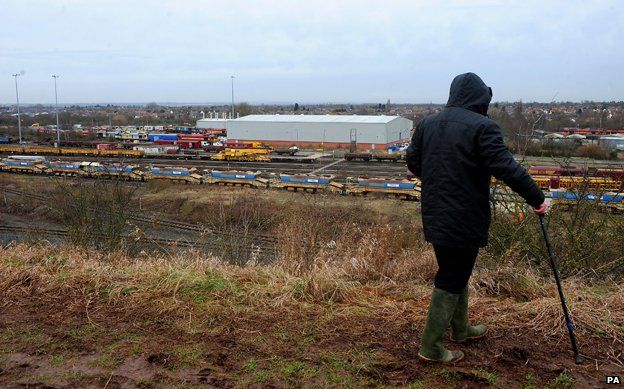 Man looking at site in Toton, where interchange will be sited