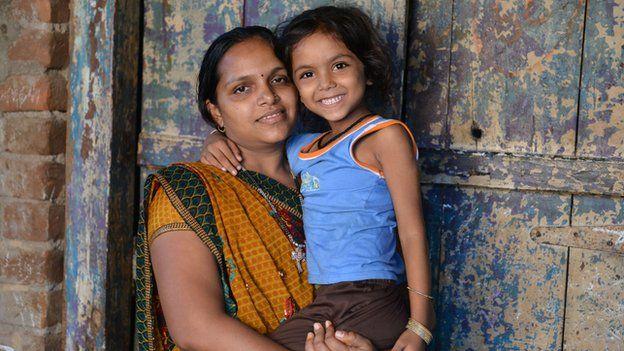 Vasanti with her daughter