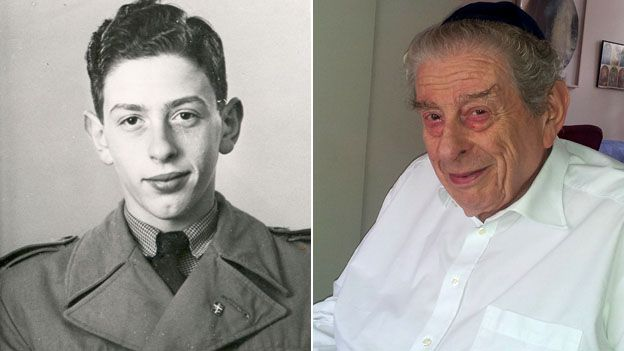 Bent Melchior in 1944 and present day
