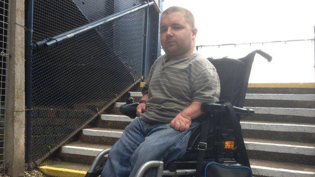 David Lewis, disabled commuter rail trouble