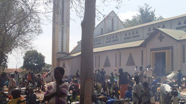 Camp at the Catholic Mission in Bossangoa, CAR
