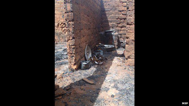 Burned out house near Bossangoa, CAR