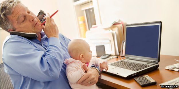 Multitasking man