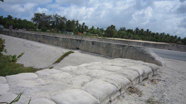 Concrete sea walls designed to protect the coastline can make erosion worse