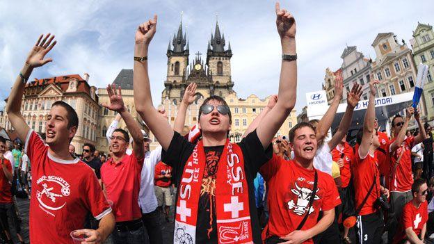 Swiss football fans