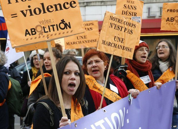 Supporters of the ban demonstrate near the National Assembly in Paris, 29 November