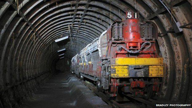 Main Rail trail waits in tunnel