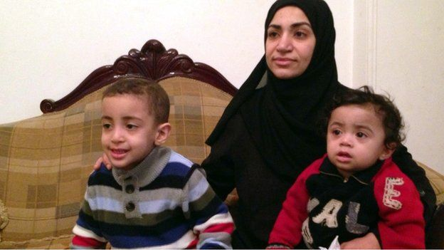 Alshaimaa Abdallah and her children