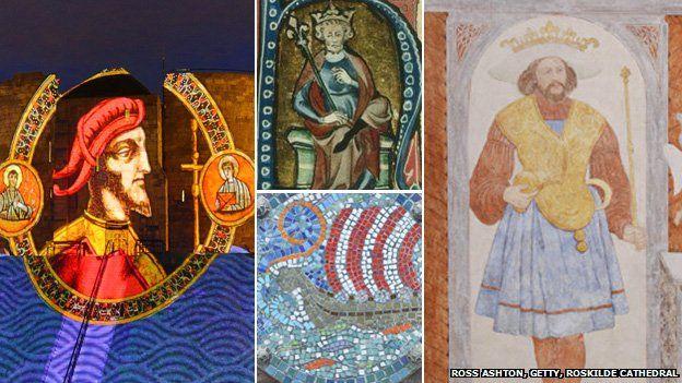 Sweyn Forkbeard, Canute, mosaic and Harold Bluetooth