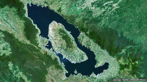 Lake Toba in Sumatra