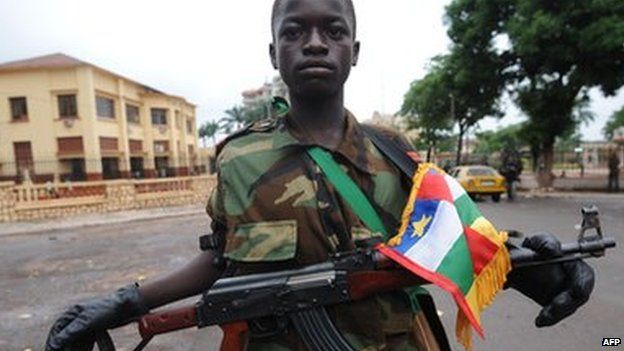 A Seleka rebel in Bangui (25 March 2013)