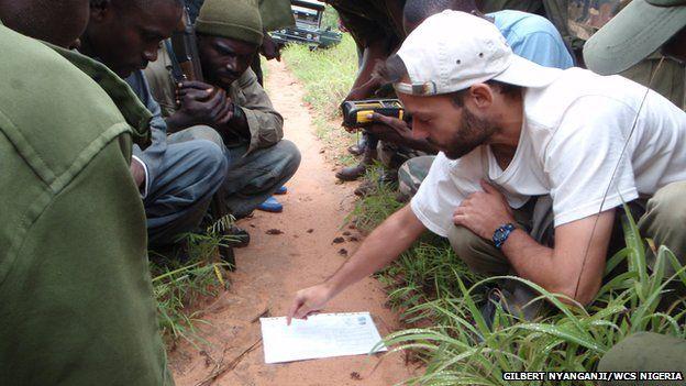 Rangers training in Yankari in Nigeria