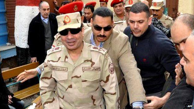 Gen Sisi in Cairo, 14 Jan