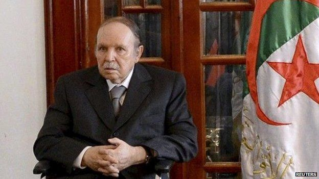 Algeria's President Abdelaziz Bouteflika pictured on 16 July 2013