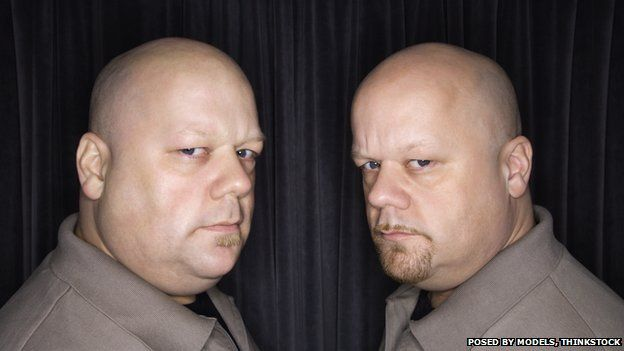 Identical twins - posed by models