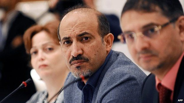 Ahmed Jarba, president of the National Coalition, at a meeting in Istanbul in November 2013