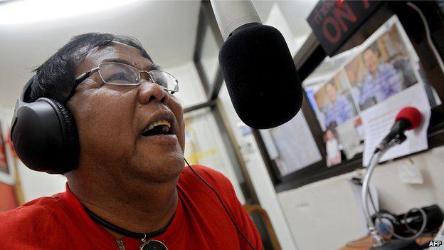 File photo: Local Thai 'Red Shirts' leader and radio show host Kwanchai Praipana in Udon Thani