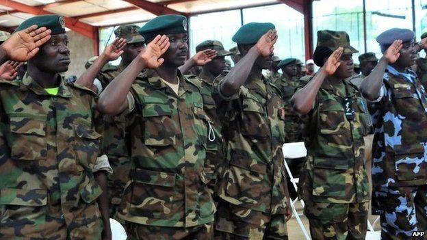 Ugandan troops - September 2013