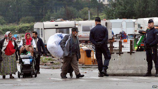 Camp eviction in northern France, September 2013