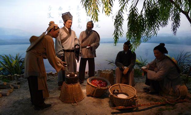 Dongpo pork display
