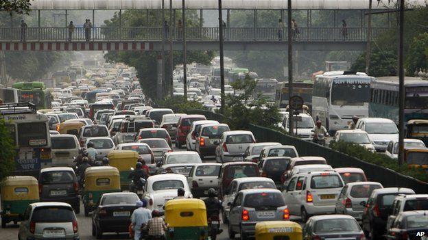 File picture of Delhi traffic