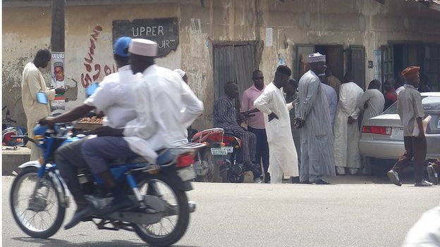 The exterior of a dilapidated courthouse in Bauchi