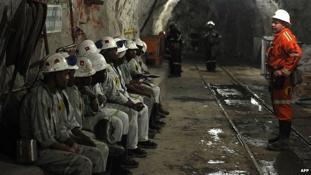 Miners in South Africa