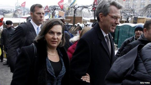 Victoria Nuland and Geoffrey Pyatt, Kiev, 10 December
