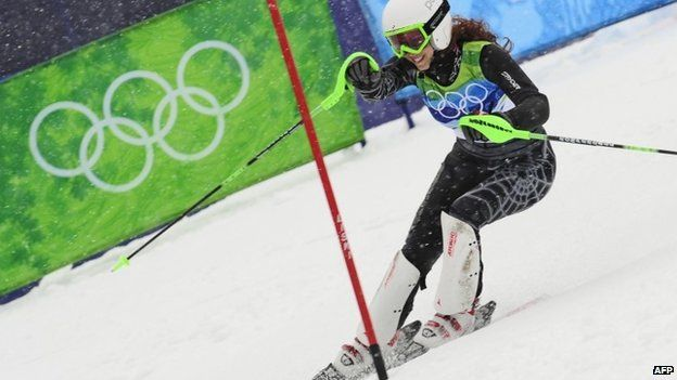 Jackie Chamoun competes at the Vancouver 2010 Winter Olympics