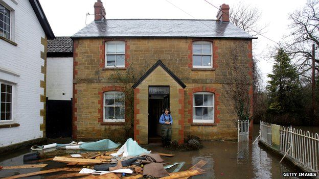 Damaged home in Thorney